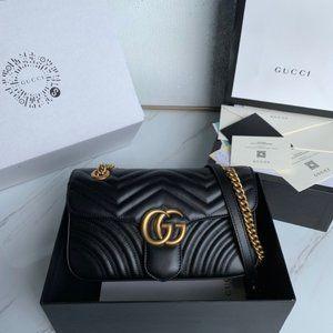 NWT GUCCI GG Marmont Gmall Matelassé Mini Bag foqu